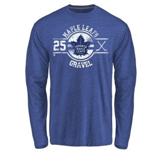 Kevin Gravel Toronto Maple Leafs Youth Royal Insignia Tri-Blend Long Sleeve T-Shirt -