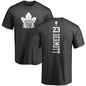 Travis Dermott Toronto Maple Leafs Men's Charcoal One Color Backer T-Shirt -