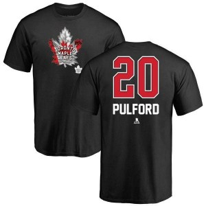 Bob Pulford Toronto Maple Leafs Men's Black Name and Number Banner Wave T-Shirt -