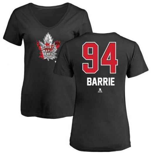 Tyson Barrie Toronto Maple Leafs Women's Black Name and Number Banner Wave V-Neck T-Shirt -